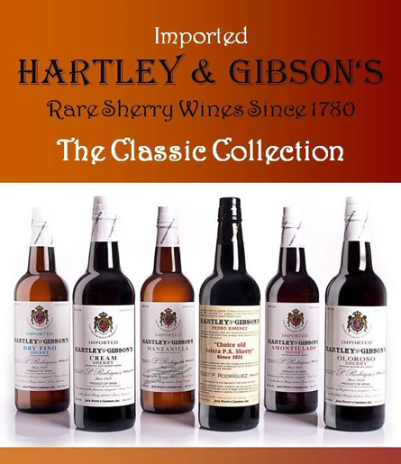 Imported Hartley and Gibson's Rare Sherry Wines Since 1780 - The Classic Collection